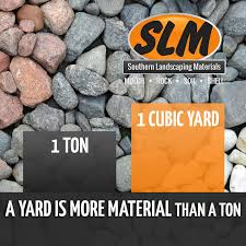 How Many Cubic Yards Are In A Ton Of Gravel Cedar Bark Stone Southern Landscaping Materials