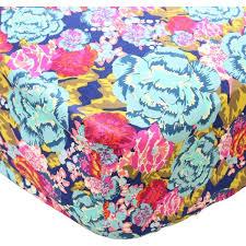 Teal And Purple Crib Bedding Jocelyn U0027s Navy Dark Floral Bumperless Crib Bedding U2013 Caden Lane