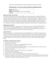 Sample Director Of Nursing Resume Psychiatric Nurse Resume Resume For Your Job Application