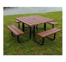 recycled plastic picnic tables 48 square recycled plastic picnic table with 1 5 8 o d tube steel