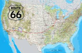 Highway Map Usa by Road Route 66 Usa Highway Map North America Canada Coast