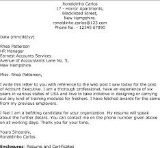 surprising account executive cover letter 7 advertising letters
