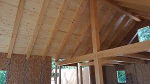 Sips Cabin by Ewp Cabin With Sip Supported Rafters Blue Ox Timber Frames