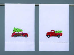 Christmas Tree Pick Up Vintage Red Truck With Christmas Tree Celebrate U0026 Decorate