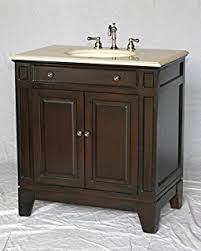 34 Bathroom Vanity 34 Wood Single Sink Walnut Brown Bathroom Vanity With