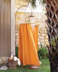 Outdoor Shower Curtains Drop Cloth Decor Martha Stewart