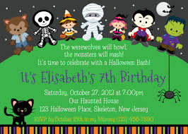 Personalized Birthday Invitation Cards Trick Or Treat Halloween Birthday Invitation Personalized