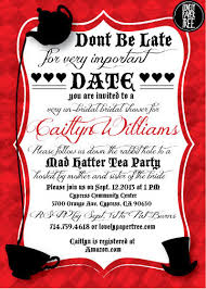 Kitchen Tea Invites Ideas Mad Hatter U0027s Tea Party Bridal Shower Invitation By Lovelypapertree