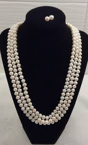 round freshwater pearl necklace images 3 strand cultured round freshwater pearl necklace with 1 quot extender jpg