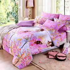 Girls Bedding Queen Size by Pink Yellow And Light Blue Pretty Girls In Orchard With