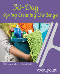 Springcleaning 30 Day Spring Cleaning Challenge Checklist Vocalpoint