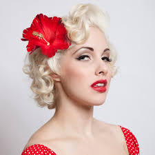 hair flower diy pin up flower hair