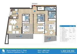 5 Bedroom Apartment Floor Plans by Floor Plan Of Bloom Heights Dubai