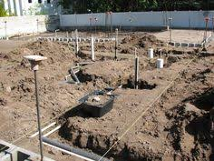 Plumbing Rough by Checking The Plumbing Layout In A Concrete Slab Before It Is