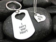 his and hers dog tags sted his and hers dog tag heart necklace couples