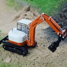 grab wooden truck excavating machinery alloy crane truck children