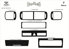 audi a3 8pa dash trim kit 3m 3d 7 parts jpg