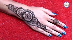easy simple mehndi henna designs for hands mandala gol tikki
