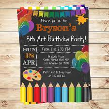 printed birthday invitations art party invitations printables birthday party invitations