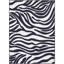 Black And White Throw Rugs Modern Rectangle Home Trends Area Rug Black And White Stripe Made