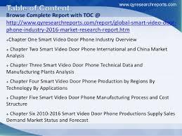 global smart door phone industry 2016 market trends decoration
