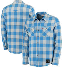 men u0027s levi u0027s blue detroit lions barstow buffalo plaid western long