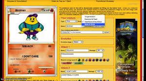 creepy pokemon card maker youtube