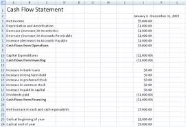 Microsoft Excel Flow Template Free Flow Statement Spreadsheet Template
