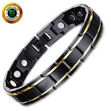 titanium magnetic bracelet black images 2018 new pure row 4 bio elements mens titanium magnetic therapy jpg