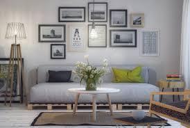 blue l shaped sofa exposed bulb lighting feature interior design