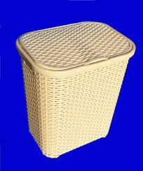 plastic laundry hamper cream beige straw effect plastic laundry basket hamper