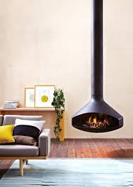 suspended log burning stoves classic hanging fireplace mounting tv
