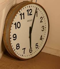 large seiko industrial wall clock clock for sale at