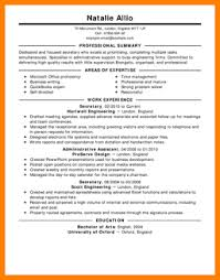 Example Of Secretary Resume by 10 Examples Of Job Resumes Resume Reference