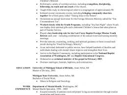 Chronological Order Resume Example by Ministry Resume Template Degree Resume Sample Best Free Resume