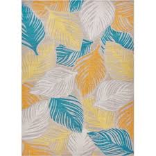 Area Rugs Tropical Tropical Gold Yellow Rugs You Ll Wayfair