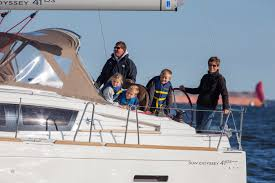 sun odyssey 41 ds jeanneau boats the fenn family gets a lesson in boat building 101 sailfeed