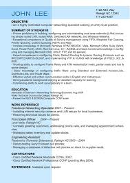 entry level it resume examples and samples generic resume