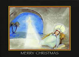 merry jesus is born painting by glenna mcrae