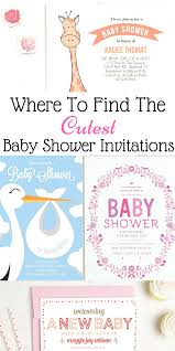 where to find the cutest baby shower invitations png