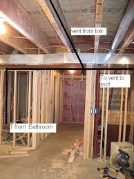 help with basement bathroom vent plumbing diy home improvement