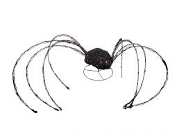 Lighted Halloween Decorations Yard by Giant Led Lighted Spooky Spider Yard Art Halloween Decoration