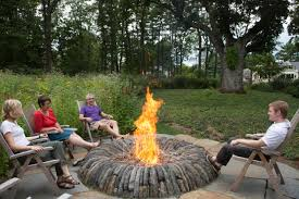 Wood Burning Firepit by Outdoor Simple Backyard Fire Pit With Wooden Chair Wayne Home Decor