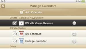 Creating A Vita Creating A Calendar Playstation Vita User U0027s Guide