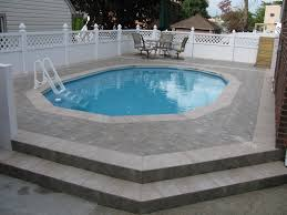 semi inground pools with steps semi in ground pools pinterest