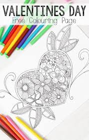 heart colouring grown ups coloring free