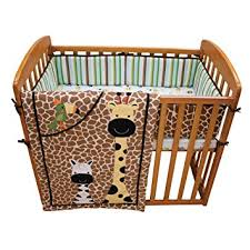 Mini Portable Crib Bedding Lambs Peek A Boo Jungle Mini Crib Set