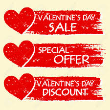s day sale valentines day sale and discount special offer text with hearts
