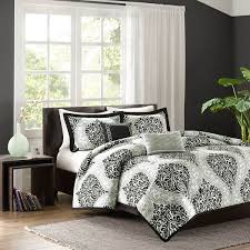 Black And White Damask Duvet Cover Queen Shop Intelligent Design Senna Black U0026 White Damask Collection