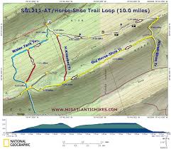 Virginia Mountains Map by Susquehanna Appalachian Trail Club Hiking South Central Pennsylvania